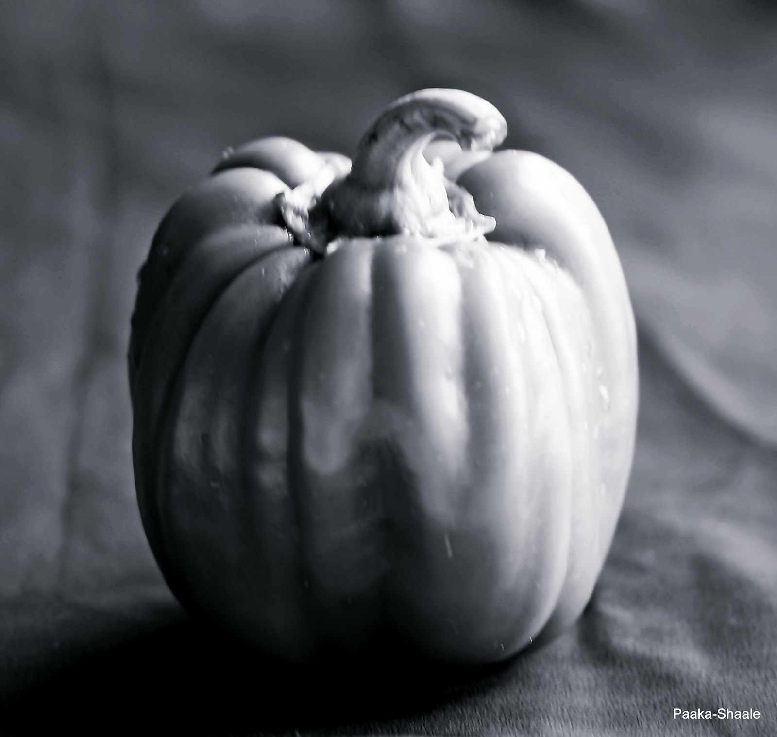 Black and white wednesday the green bell pepper