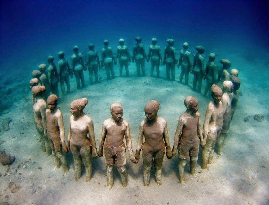 14. Grenada Underwater Sculpture Park – Molinere Bay, Grenada - 27 Amazing Travel Photos That Will Infect You With The Travel Bug