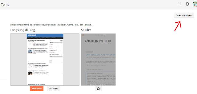 cara mengganti template blogger dengan cepat