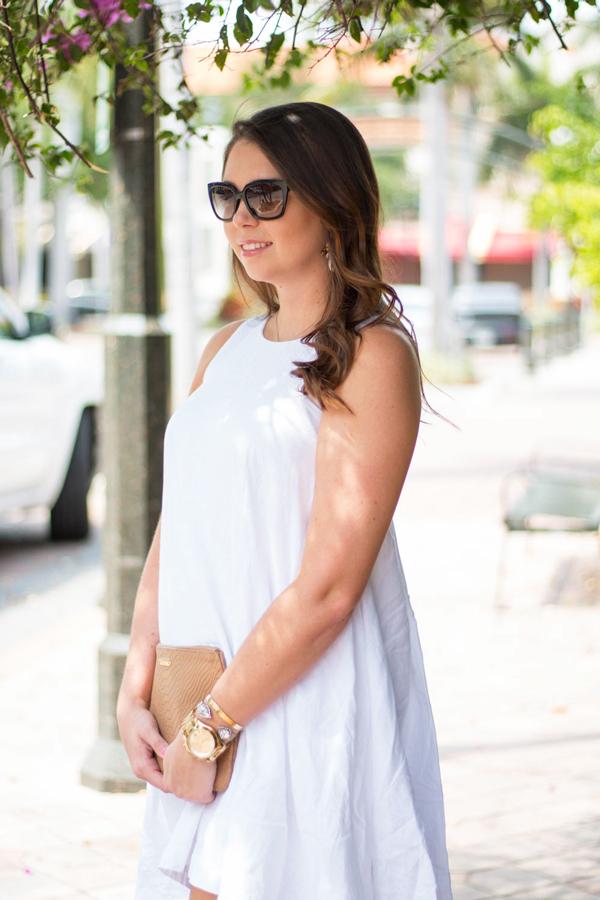 A breezy linen dress for hot summer days.