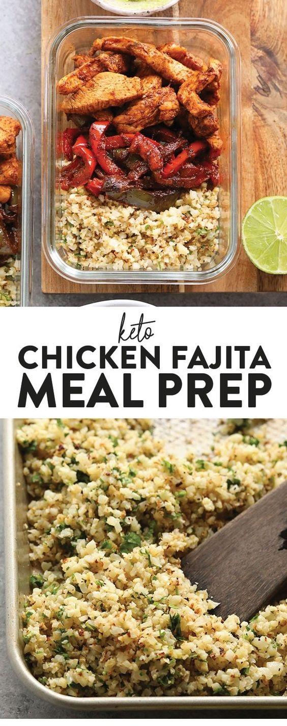 Keto Chicken Fajita Meal Prep Recipe