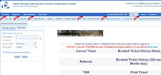 IRCTC Online Ticket Booking Time Revised from 20 September 2015