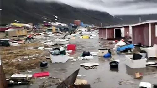 Ondas Gigantes Atingem Litoral Oeste da Groenlândia