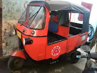 Dijual Bajai Oranye Kondisi Mesin Jalan - JAKARTA