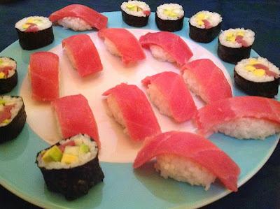 sushi misto fatto in casa