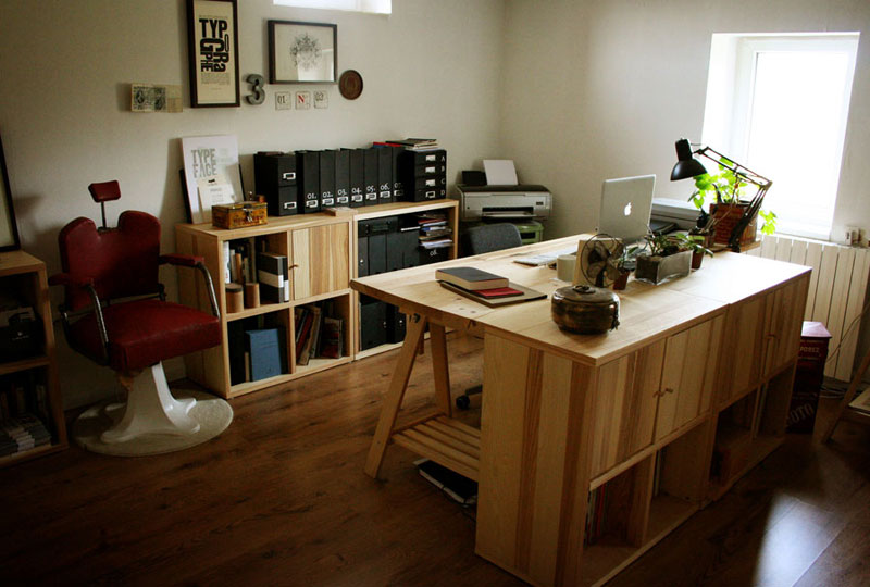 The home office/studio of one of my favorite graphic designers ...