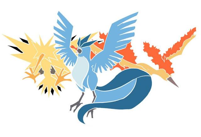 Uno, Dos, Tres - O trio de aves Pokémon