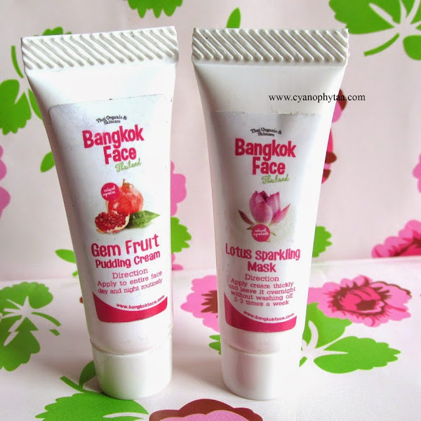 Review: Bangkok Face Thailand Gem Fruit Pudding Cream & Lotus Sparkling Mask