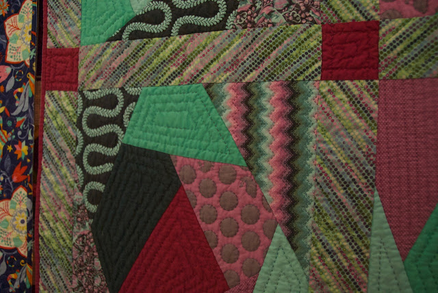 """Whacky Tula"" by Tineke Nuyten (quilting detail)"