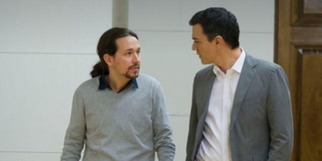 """Pablo Iglesias: las dimisiones en la dirección del PSOE para hacer caer a Sánchez son """"un fraude""""."""