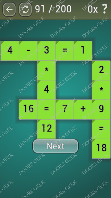 Math Games [Beginner] Level 91 answers, cheats, solution, walkthrough for android