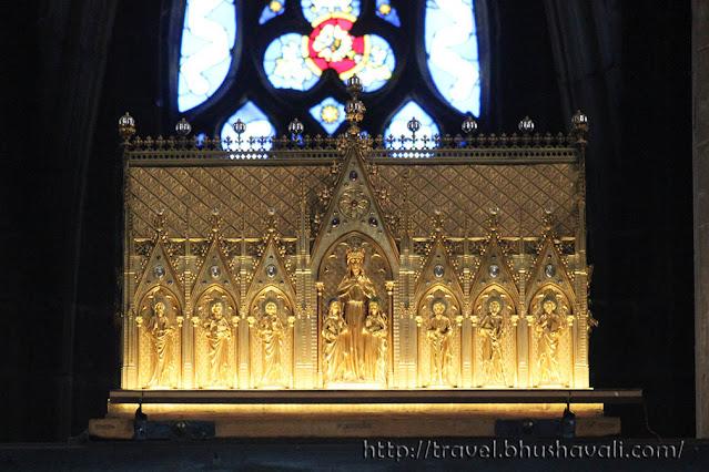 St.Waudru Church Mons Doudou Festival Chariot Relics