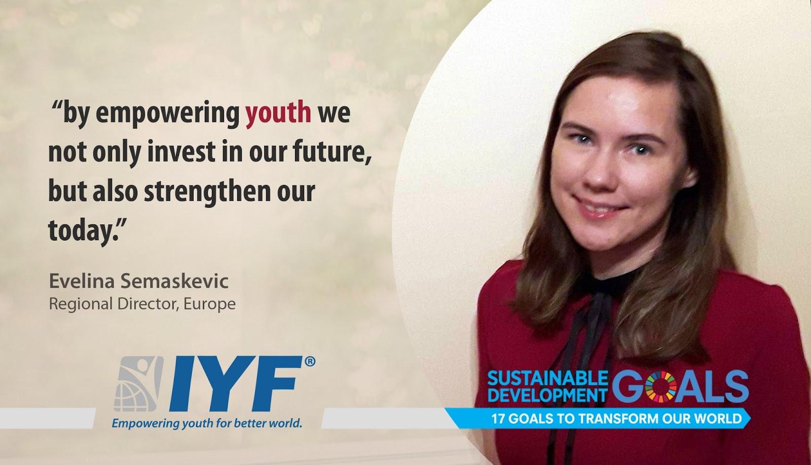 Evelina Semaskevic, IYF Regional Director, Europe