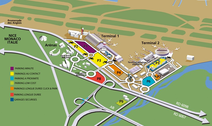 nice voyages aeroport nice cote d azur ouverture du parking p6 01 06. Black Bedroom Furniture Sets. Home Design Ideas