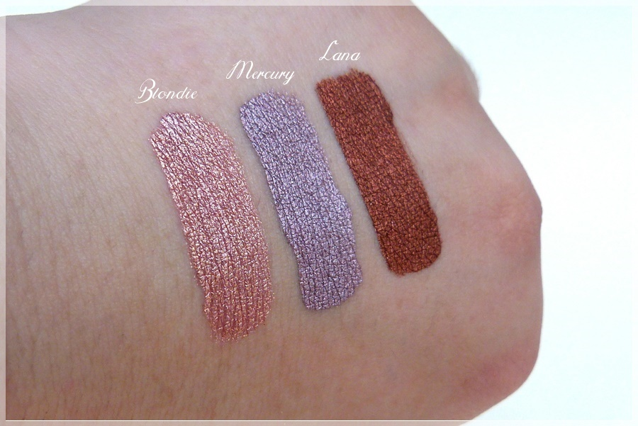 Lime Crime Swatches Blondie Mercury Lana