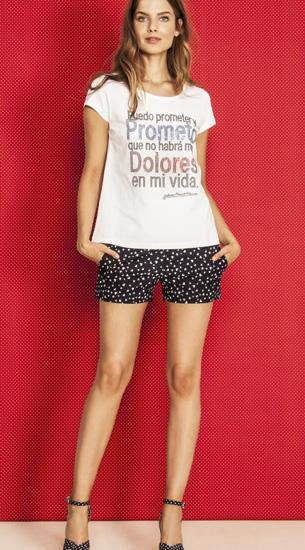 camiseta mensaje Dolores Promesas nueva colección