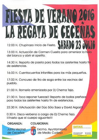 Fiesta de Verano 2016 en La Regata de Cece�as