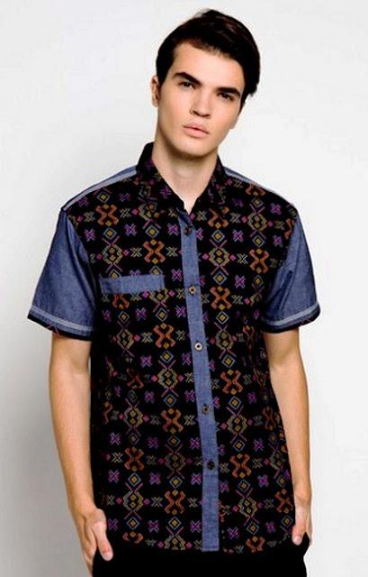 Contoh Model Baju Batik Pria Kombinasi Modern Terbaru