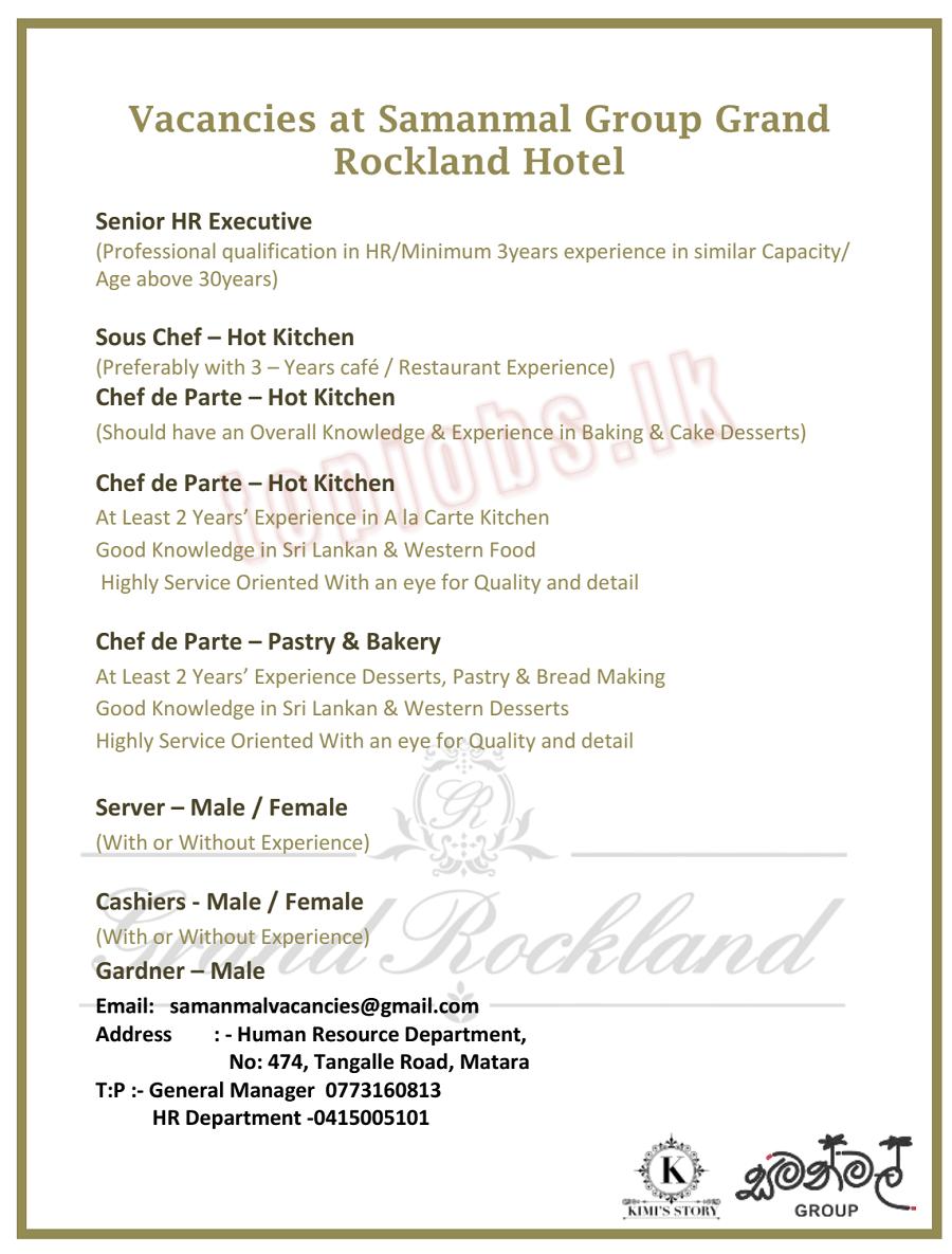 Hotel Vacancies - TopVacancy lk | Top Vacancies in Sri Lanka,Find
