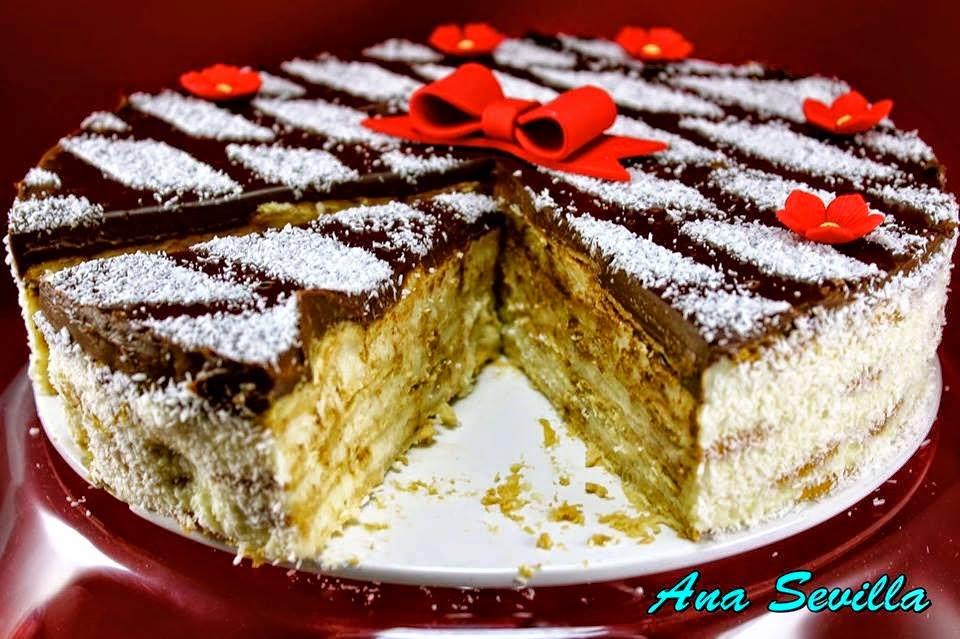 Tarta de coco y galletas Ana Sevilla cocina tradicional