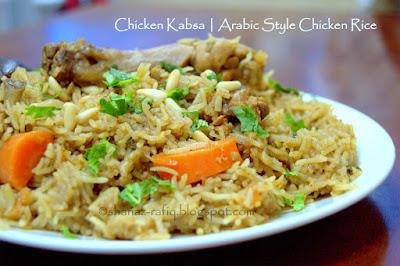 Arabic Style Chicken kabsa rice