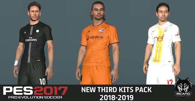 on sale 63447 9341f PES 2017 New Third KitPack 2018/2019 - Micano4u | PES Patch ...