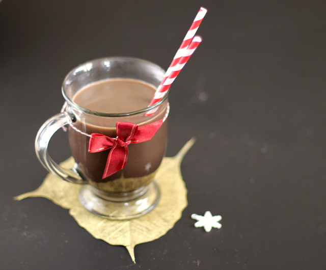 Skip the Starbucks line and make this Healthy Homemade Peppermint Mocha! This DIY recipe tastes just like the original, but it's sugar free and low fat!
