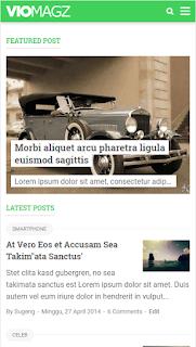 VioMagz Blogger Template
