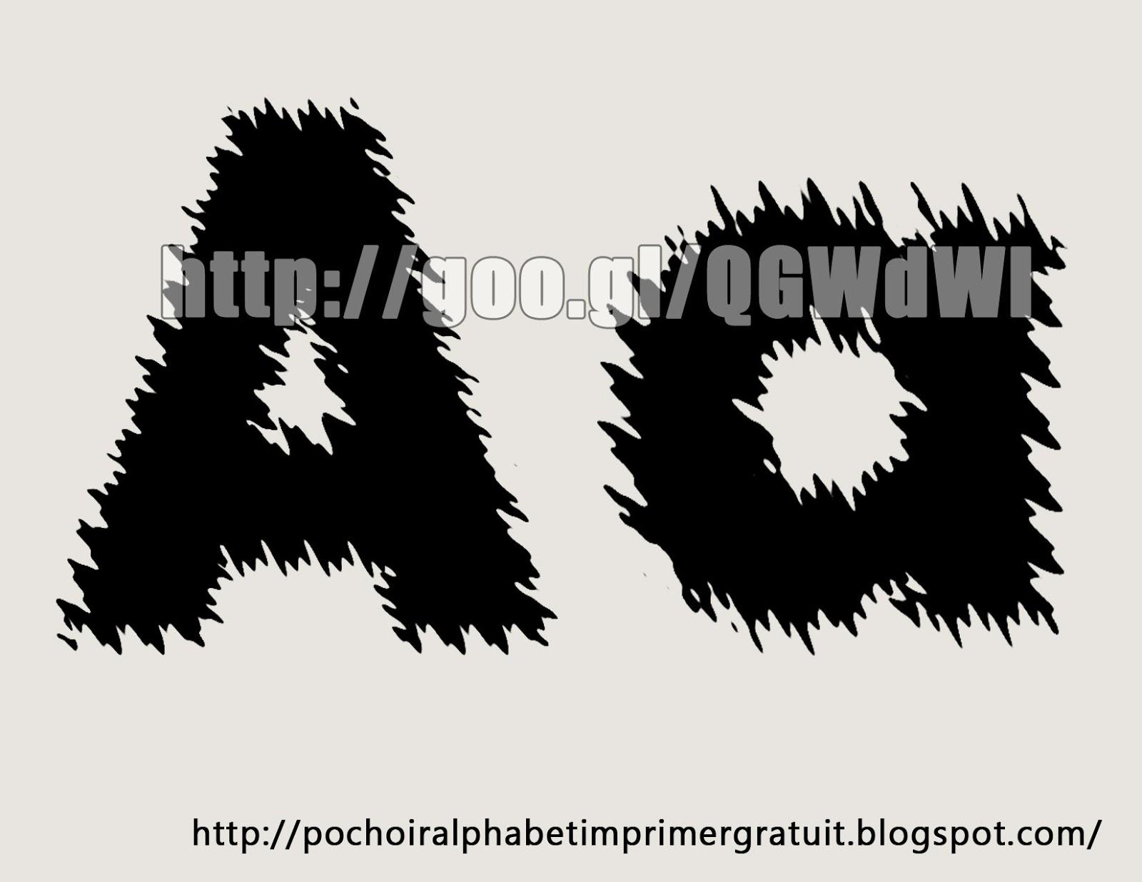 lettre alphabet pochoir gratuit imprimer a pochoirgratuit spot