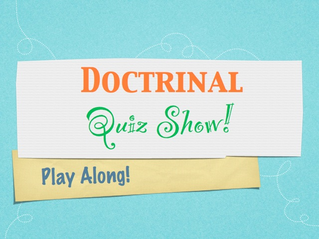 Little Catholic Bubble: Doctrinal Quiz Show! Marriage and