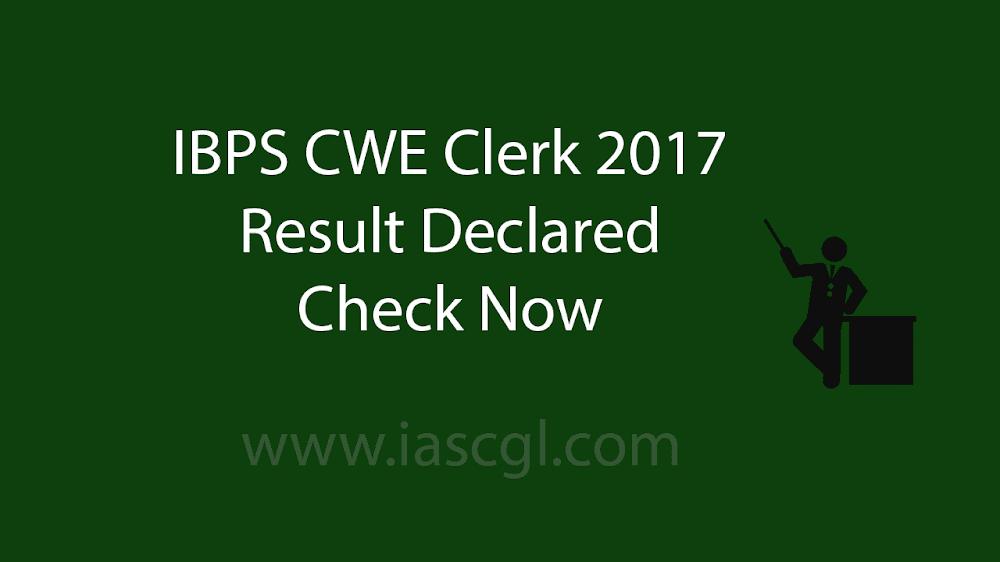 IBPS Clerk Result 2017