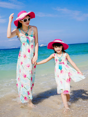 dress couple ibu dan anak