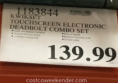 Deal for the Kwikset SmartCode 915 Touchscreen Electronic Deadbolt with Tustin Lever at Costco
