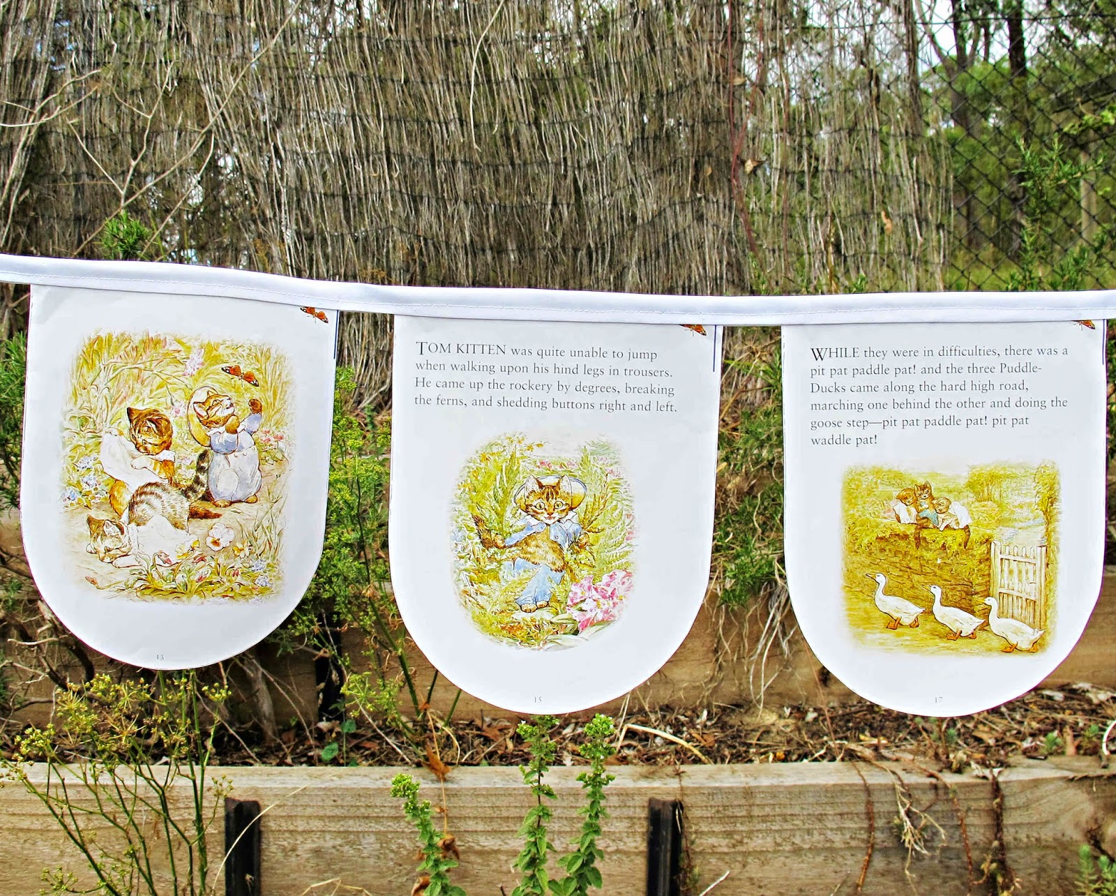 image bunting domum vindemia beatrix potter the tale of tom kitten