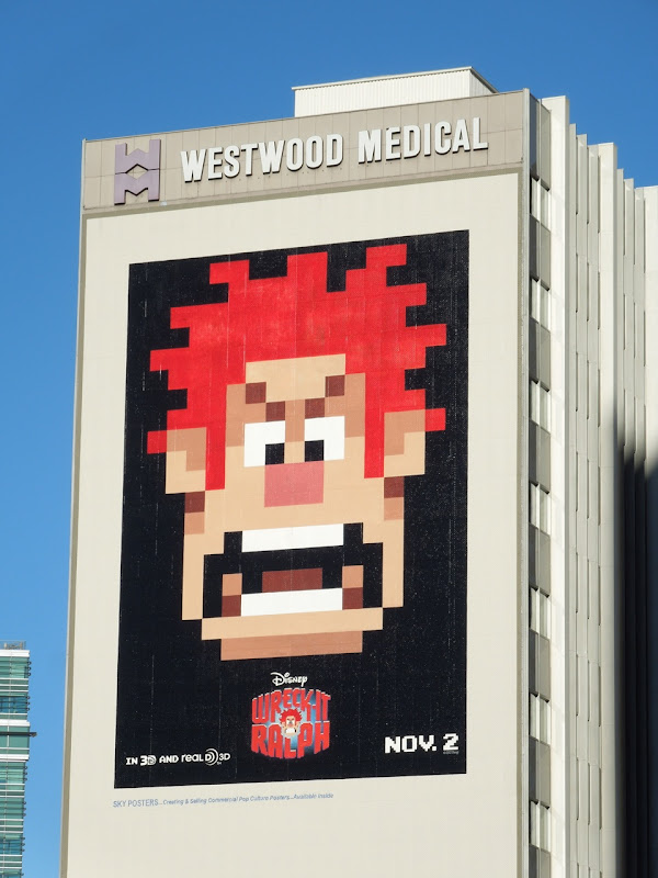 Giant Wreck It Ralph movie billboard