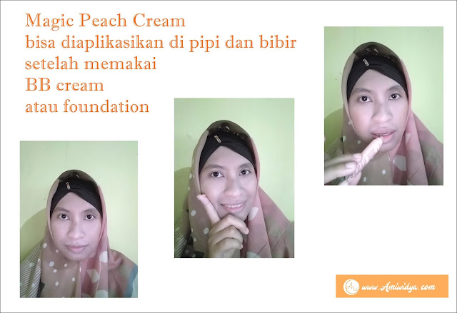 pemakaian magic peach cream