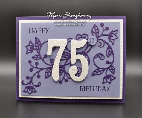 Stamping Inspiration Moms Flourishing 75th Birthday Card