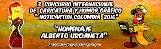 RESULTADOS 3 CONCURSO INTERNACIONAL DE CARICATURA Y HUMOR GRÁFICO, NOTICARTUN COLOMBIA 2016-17