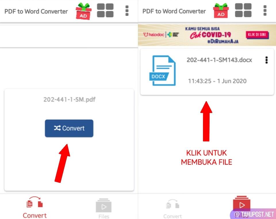 Cara Mengubah File PDF ke Word di HP Laptop Online Offline - Convert dan Buka File Word