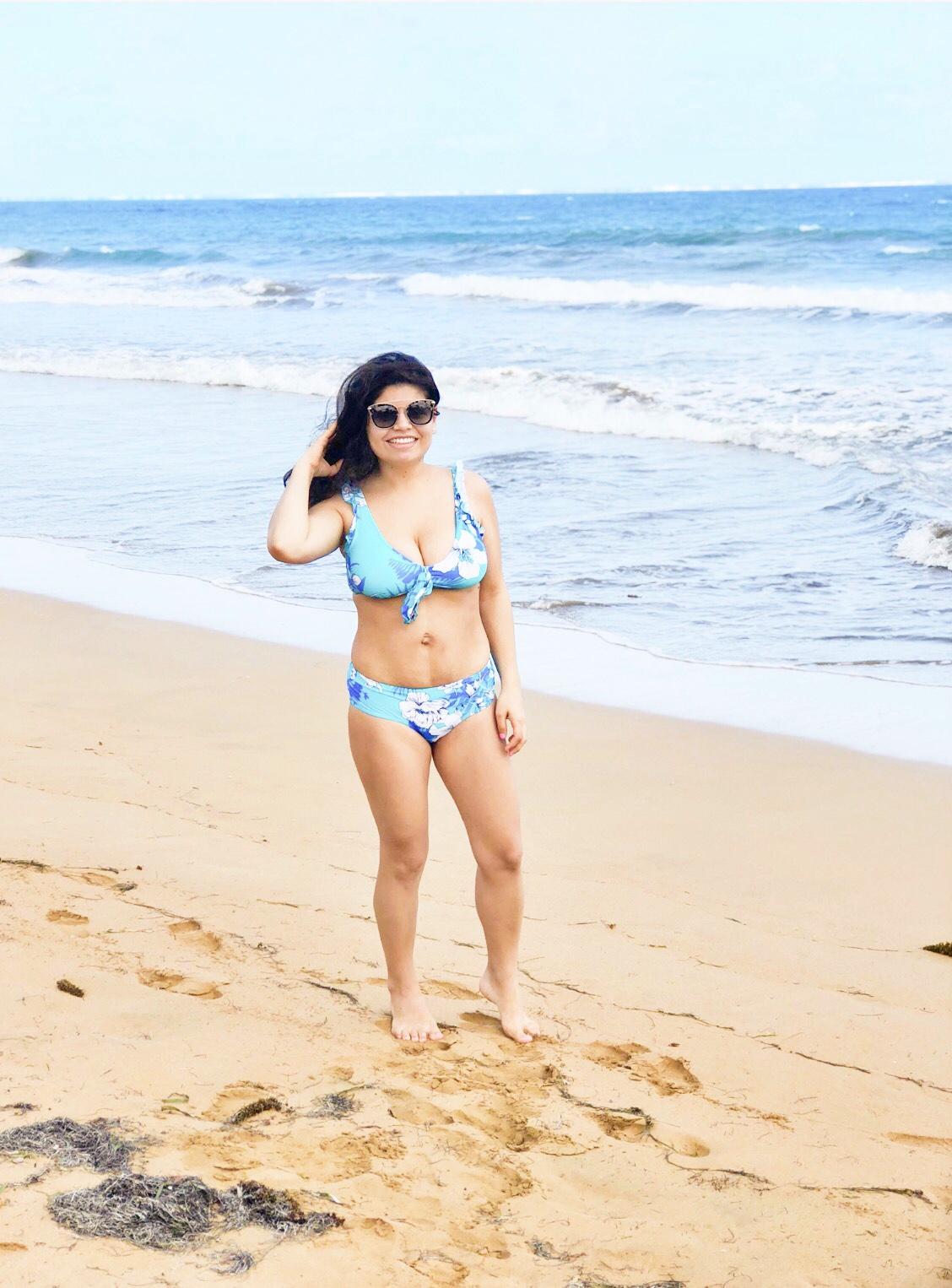 Mom bod, postpartum body, self love, motherhood, beach, swim sit