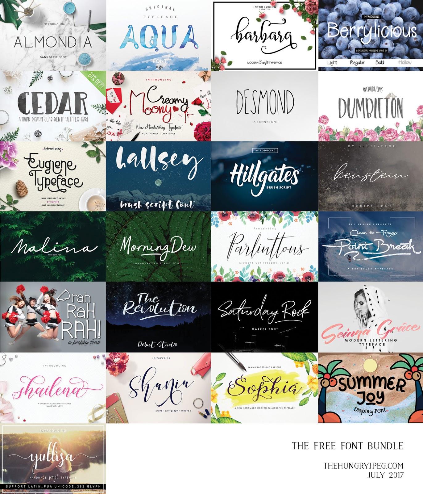 Download Premium Free Font Bundle - Free PSD Design