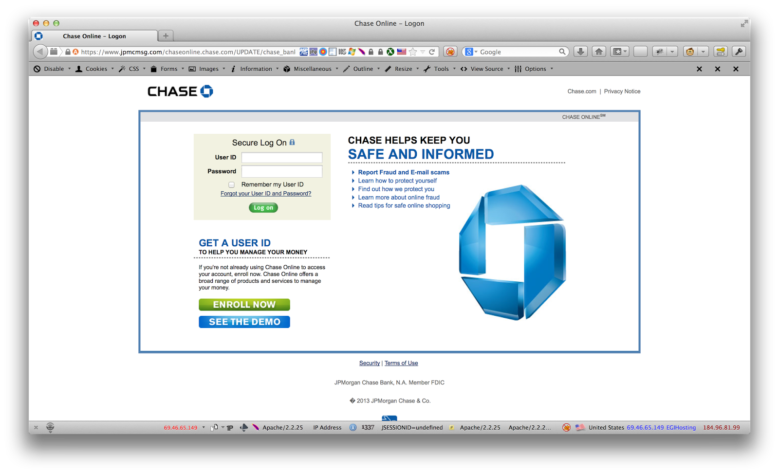 Chase com Phishing Scam | Vitalisec - Vital Information Security