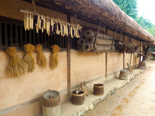 Farmer's house in the Korean Folk Village, Yongin, Gyeonggi-do, South Korea