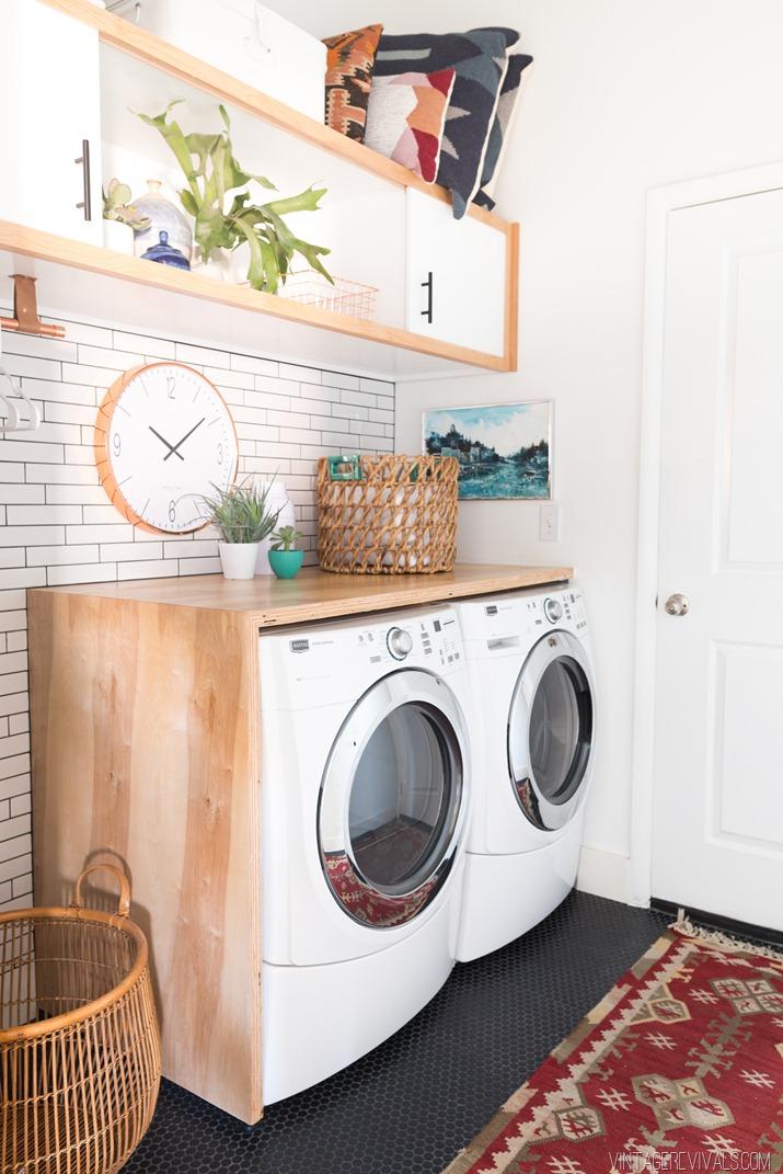 antes y despu�s de una habitaci�n lavadero, cuarto de plancha, etc...