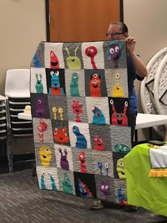 Monster quilt made as 4-H group project