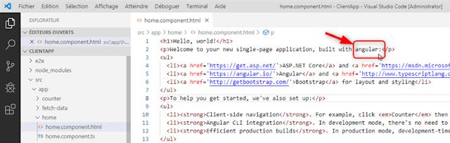 Modification du fichier home.component.html