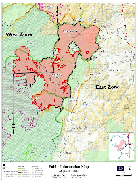 Southwest Oregon Joint Information Center Taylor Creek Klondike Fire