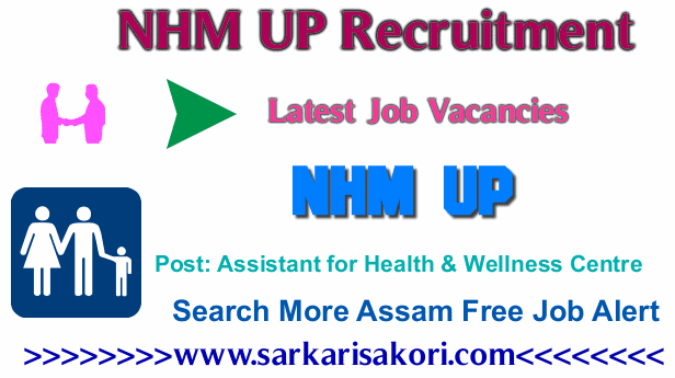 NHM UP Recruitment 2017 Assistant for Health & Wellness Centre,Data accountant cum DEO & Accountant