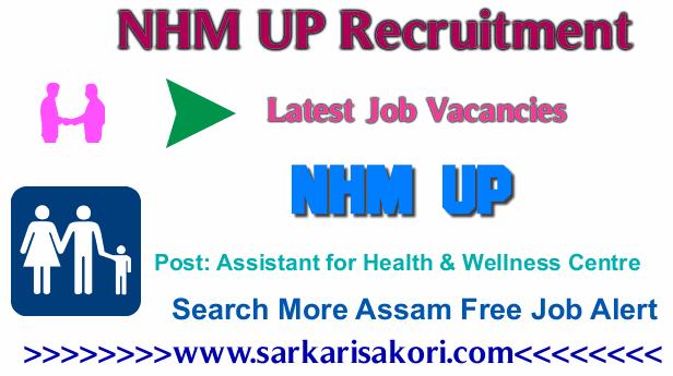 NHM UP Recruitment 2017 Assistant for Health & Wellness Centre,Data accountant cum DEO & Accountant