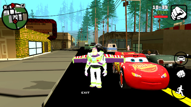 GTA SA Cartoon Mod Pack Android 2017 toy story mod roads etc